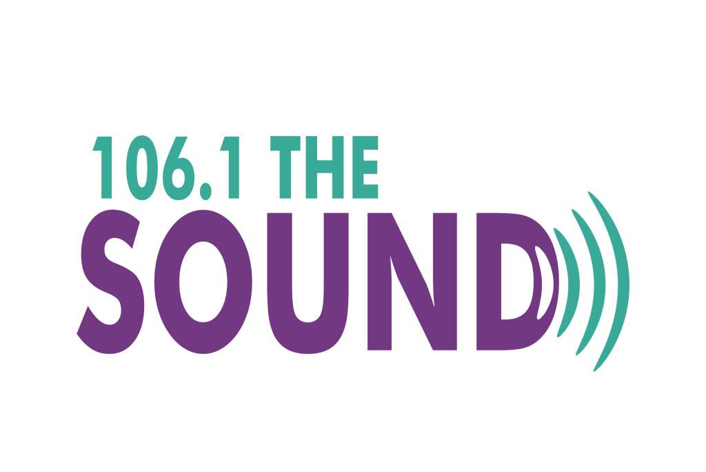 106.1 The Sound Radio Station Logo