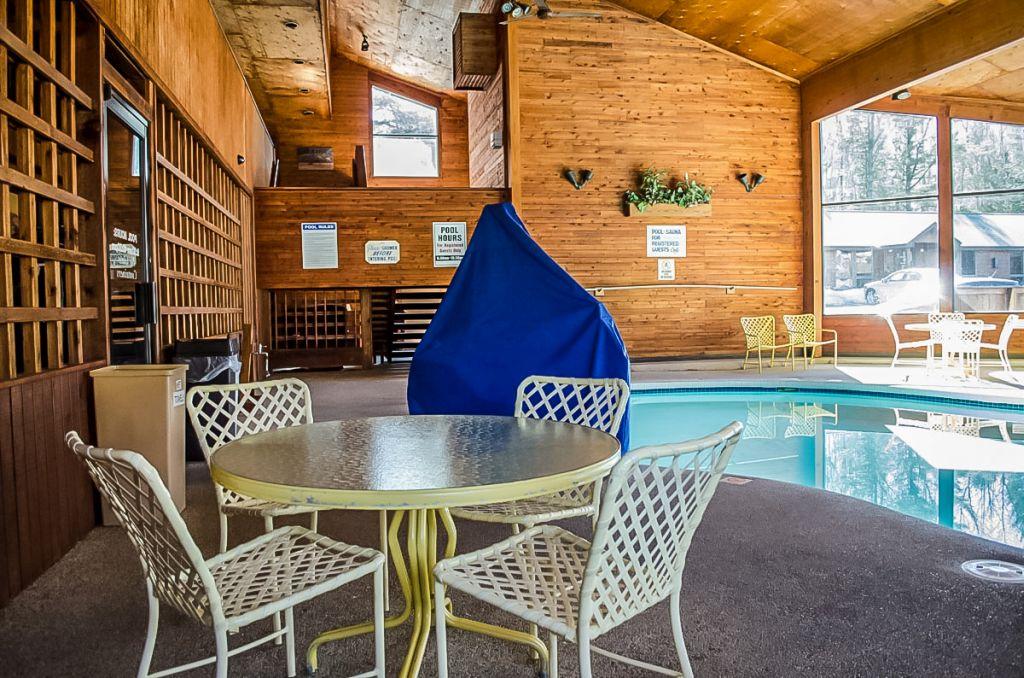 Pool side at the Cedar Motor Inn in Marquette.