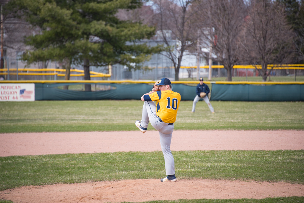 Negaunee Miners' Pitcher on the mound - Spring 2019
