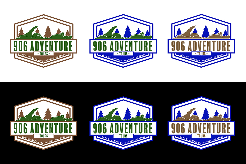 906 Adventure Tour Mock Ups with the three different color schemes requested by the client.
