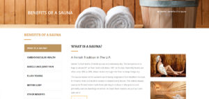 Information on the Benefits a Sauna can offer.