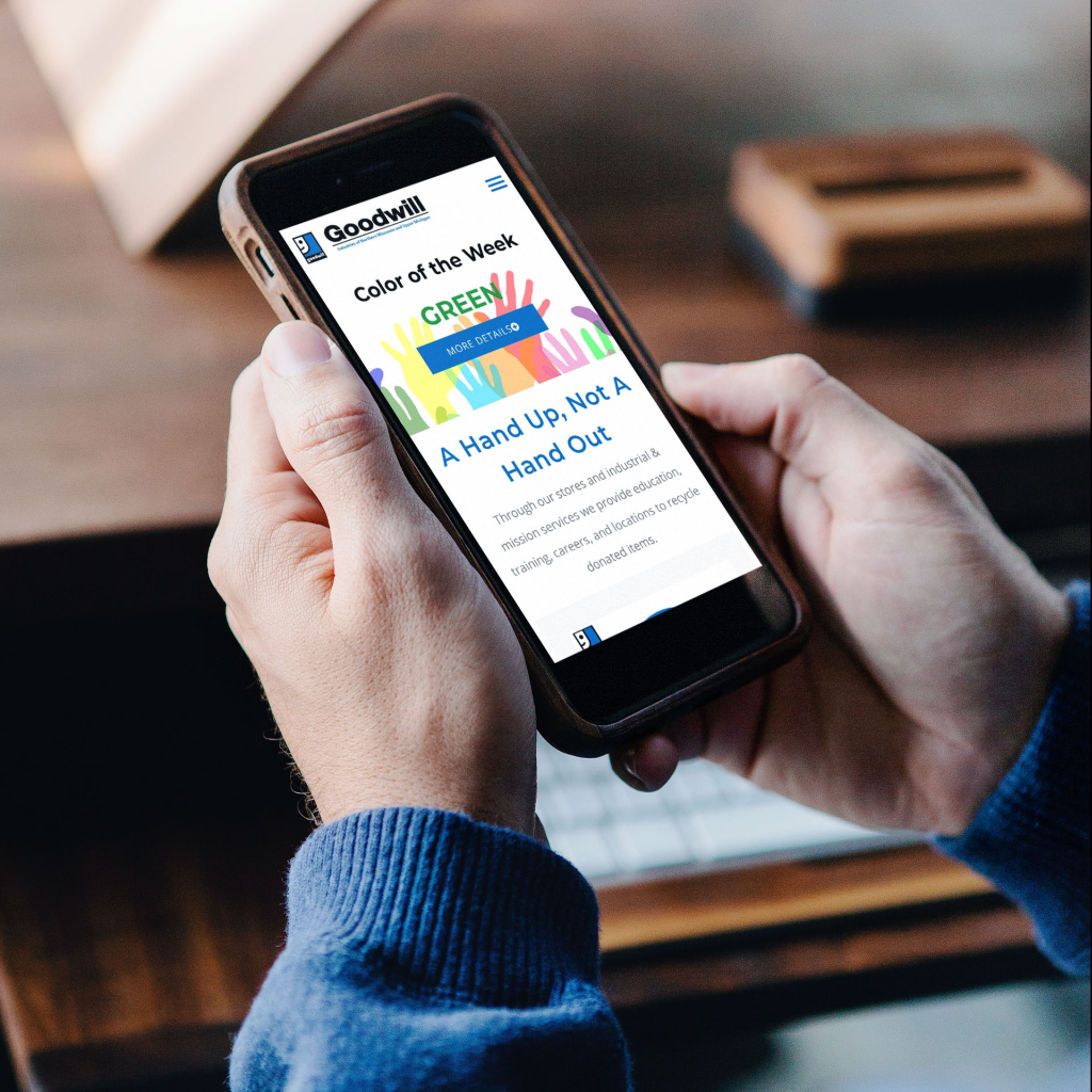The new Goodwill Website is fully mobile responsive.