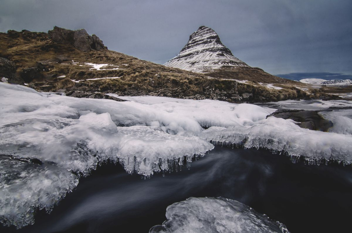The Famous Kirkjufell Mountain in Iceland.
