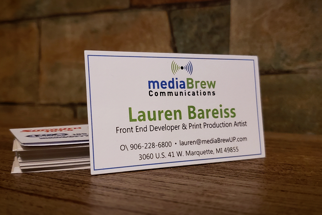 My business card from mediaBrew Communications.