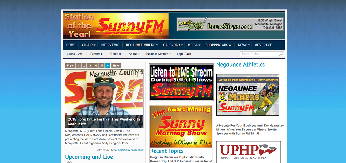 The old Sunny 101.9 was extremely cluttered with plenty of issues.