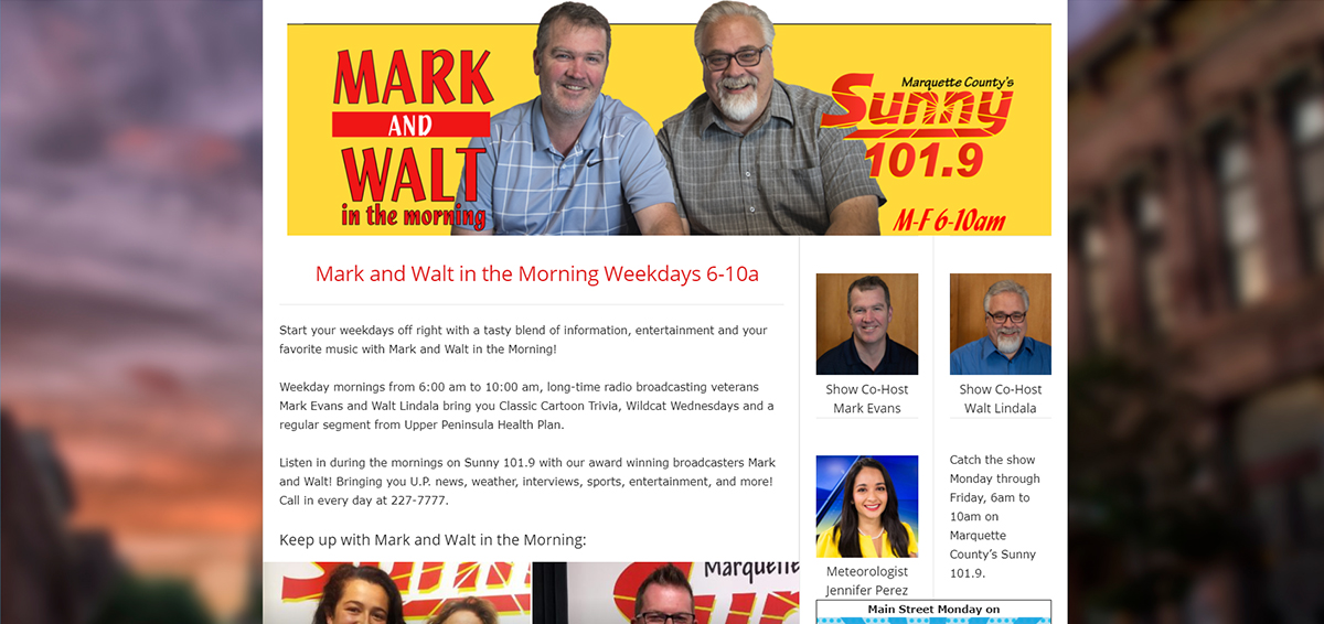 The New Morning Show Page with DJ changes and a bit update.