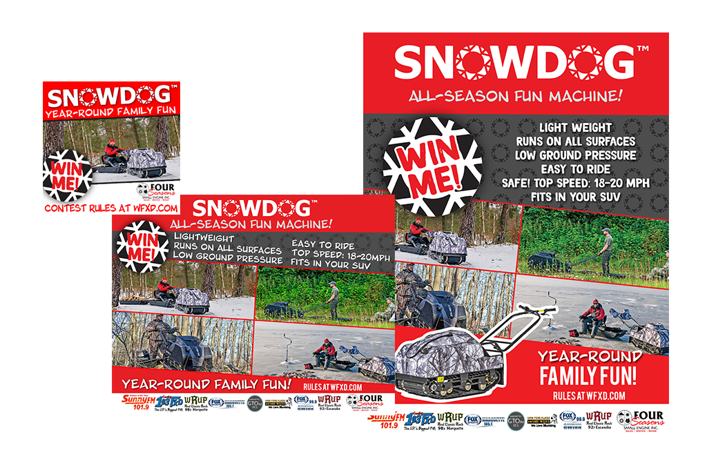 The Snowdog Giveaway from Four Seasons Small Engine and Great Lakes Radio