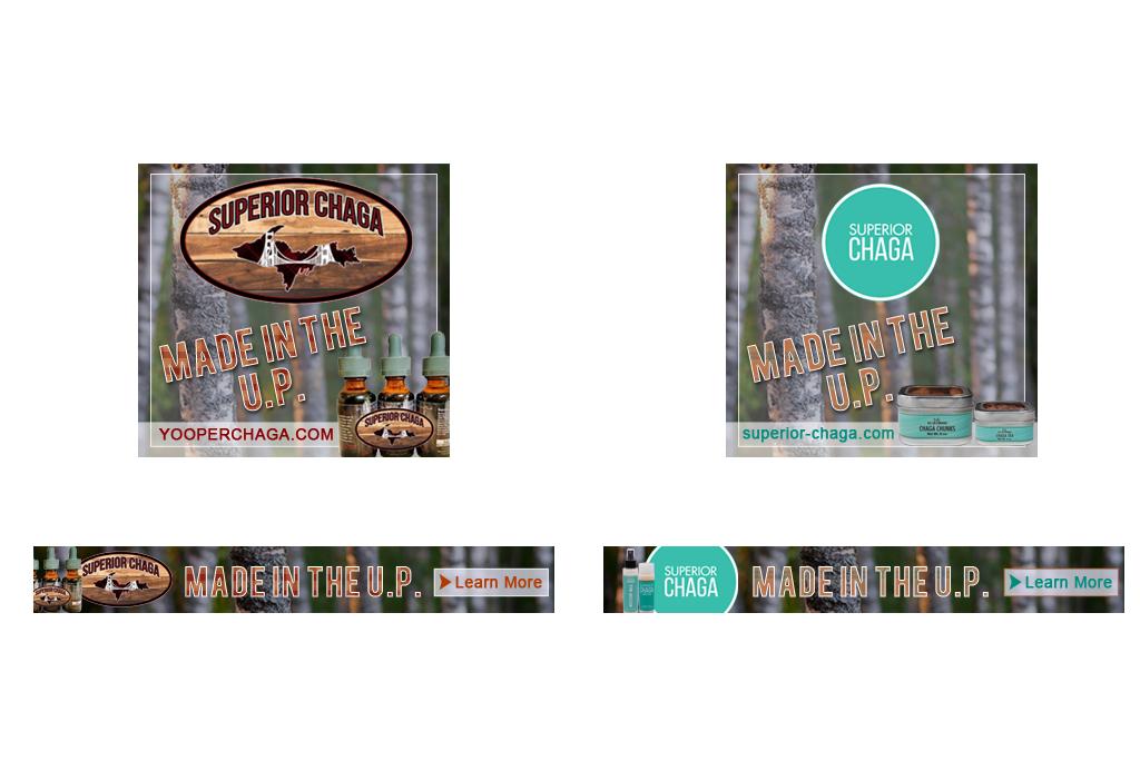 Web Banner designs for Superior Chaga