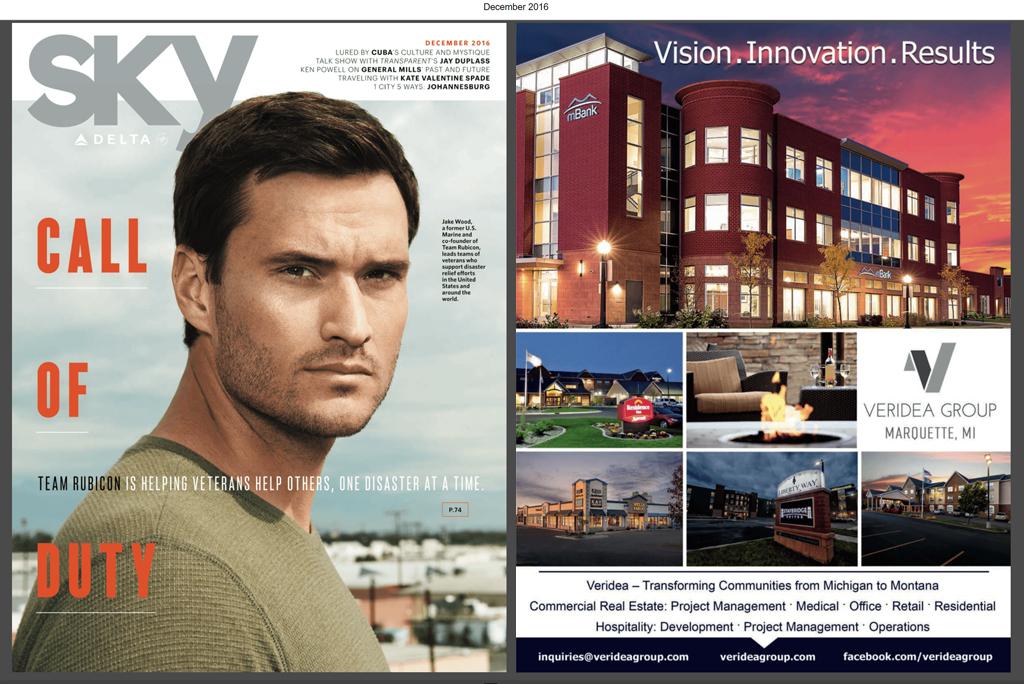 The Veridea Group magazine ad I designed for the Delta Sky Magazine in 2016