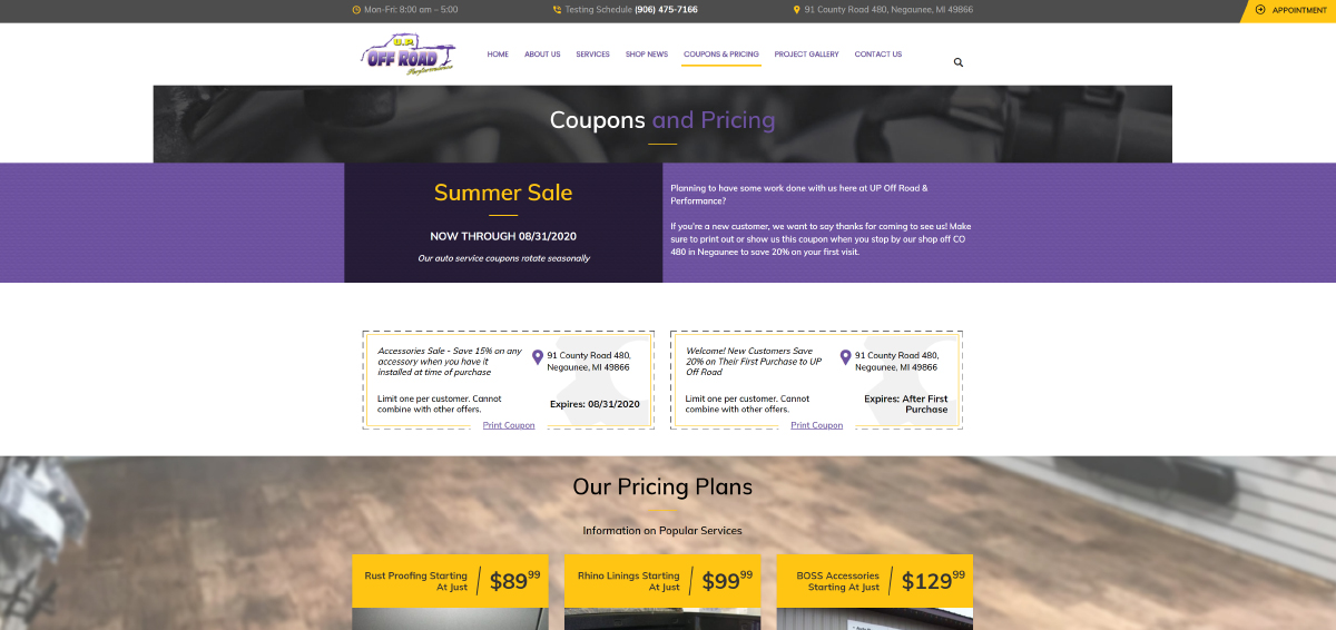 UP-Off-Road-Demo-Mock-Up-Site-Coupons-and-Pricing-Page