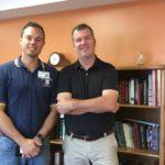 Eastwood Quality Improvement Manager Wayne Johnson and Sunny.FM's Mark Evans