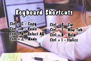 Basic Keyboard Short Cuts for Windows
