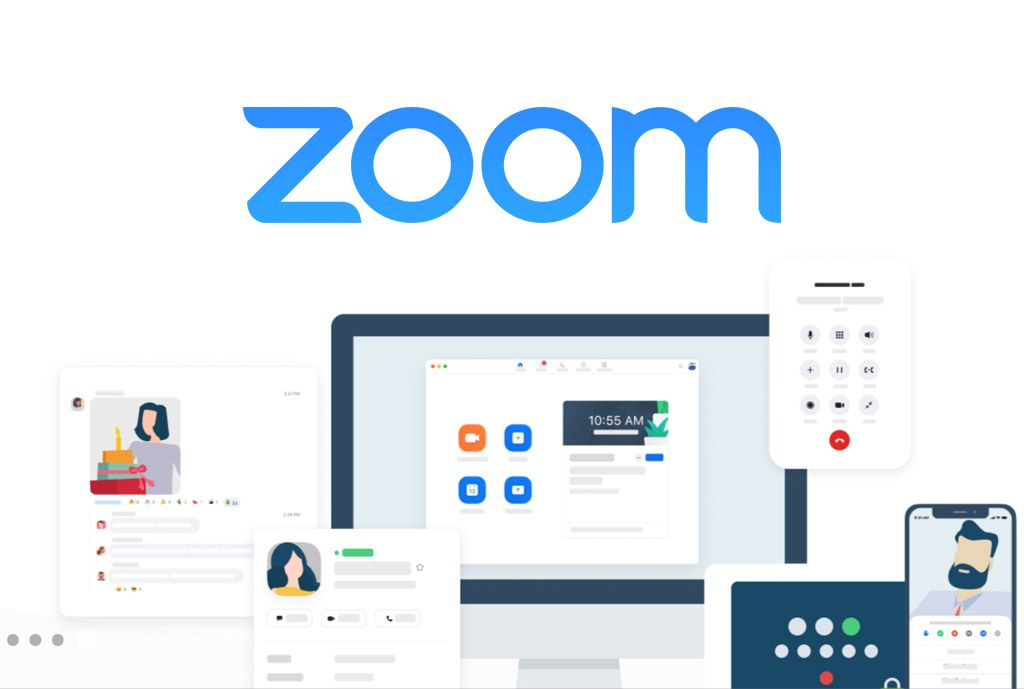 Use Zoom to complete conference calls for work, school or with family (artwork from Zoom.us)